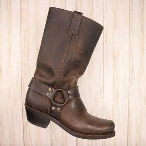 Frye Brown Leather Harness Riding Boots Size 9 Men